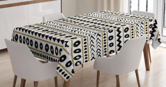 Abstract Primitive Figures Tablecloth