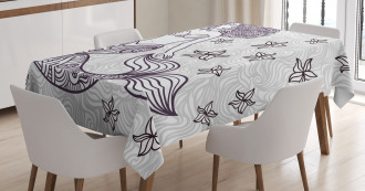 Magical Mermaid with Wave Tablecloth