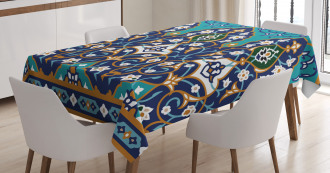 Abstract Navy Design Tablecloth
