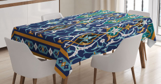 Hippie Tribal Figures Tablecloth