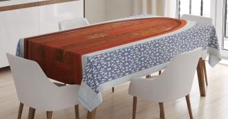 Antique Stars Wooden Door Tablecloth
