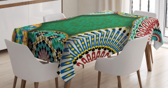 Oriental Hippie Motif Tablecloth