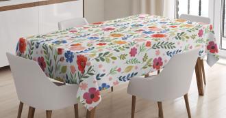 Soft Colored Floret Tablecloth
