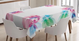 Digital Bridal Flowers Tablecloth