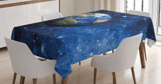 Planet Earth Solar System Tablecloth