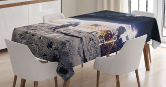 Astronaut on Moon Mission Tablecloth