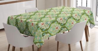 Baroque Floral Figure Tablecloth