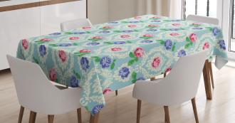 Baroque Colored Roses Tablecloth
