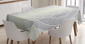 Boho Ombre Retro Tablecloth