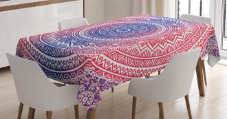 Ombre Mandala Tablecloth