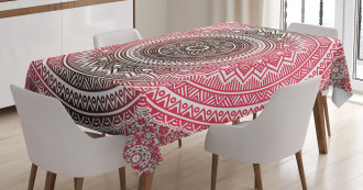 Ombre Zen Ethnic Tablecloth