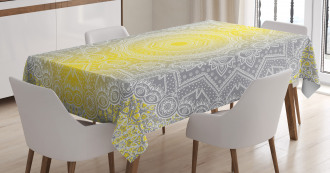 Boho Ombre Old Tablecloth