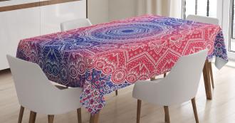Hippie Ombre Boho Asian Tablecloth