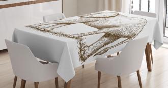 Safari Wild Animals Art Tablecloth