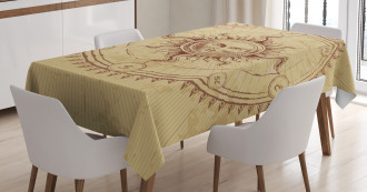 Antique Roman Sun Stone Tablecloth