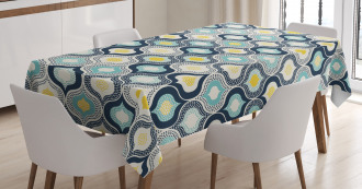 Morrocan Style Dots Art Tablecloth