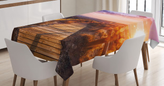 Sunset in Nature Park Tablecloth