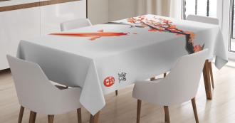 Koi Carp Fish Couple Tablecloth