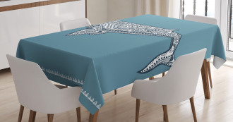 Ethnic Embellish Whale Tablecloth