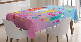 French Quote with Hearts Tablecloth