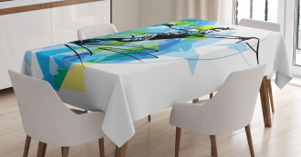 Exotic Sealife Hobby Tablecloth