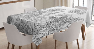Flowers Garden Scenery Tablecloth