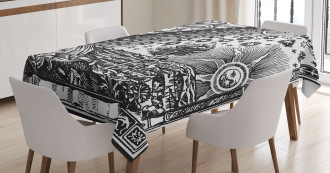 Moon Sun Planets Image Tablecloth