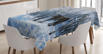 Winter Forest Theme Tablecloth