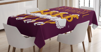 Dancing Ballerina Quote Tablecloth