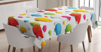 Colored Aviation Plane Tablecloth