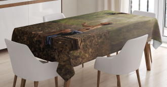 Asian Forest Birds Eco Tablecloth