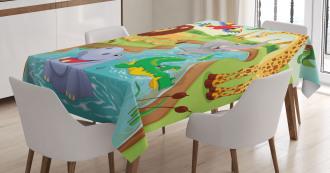 Safari African Animals Tablecloth