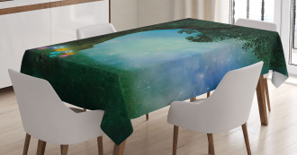 Magical Forest Night Tablecloth