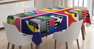 Television Channel Sign Tablecloth