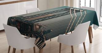 Buildings Cityscape Tablecloth