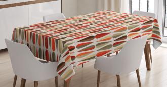 70s Retro Style Tablecloth