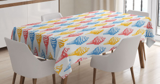 Ice Cream Cones 50s Time Tablecloth
