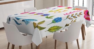 Watercolor Garden Design Tablecloth