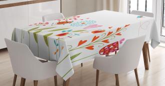Romantic Hearts Design Tablecloth