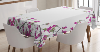 Leaves Buds and Branches Tablecloth