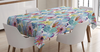 Desert Sand Wild Flowers Tablecloth