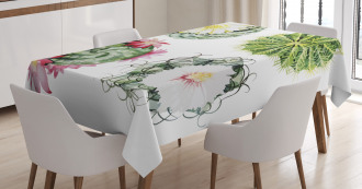 Mexican Retro Funky Cactus Tablecloth