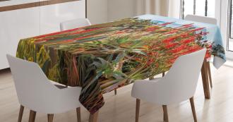Desert Mountain Photo Tablecloth