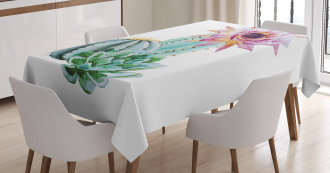 Cactus Flower and Spike Tablecloth