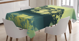 Forest Tree Landscape Tablecloth