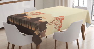 Safari Animal Elephant Tablecloth