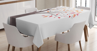 Forest Trees with Leaves Tablecloth