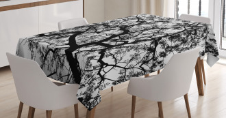 Spooky Black Tree Branch Tablecloth