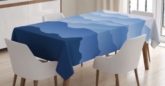 Nature Theme Silhouette Tablecloth