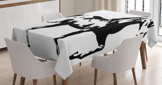 Running Horse Silhouette Tablecloth